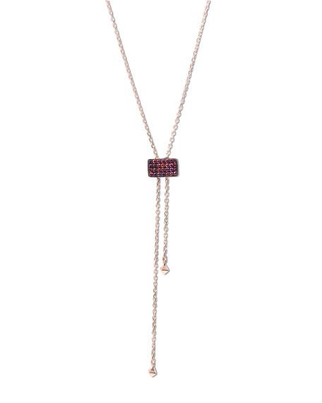 Stevie Wren Pink Diamond Lariat Necklace in 14K Rose Gold