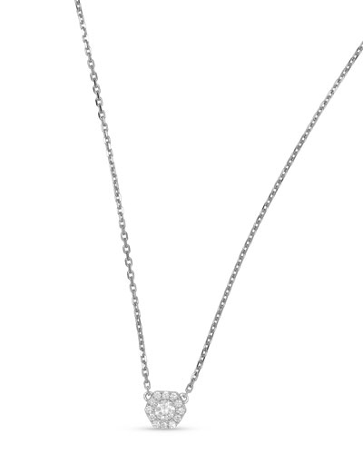 18k Firenze II Hexagon Diamond Pendant Necklace