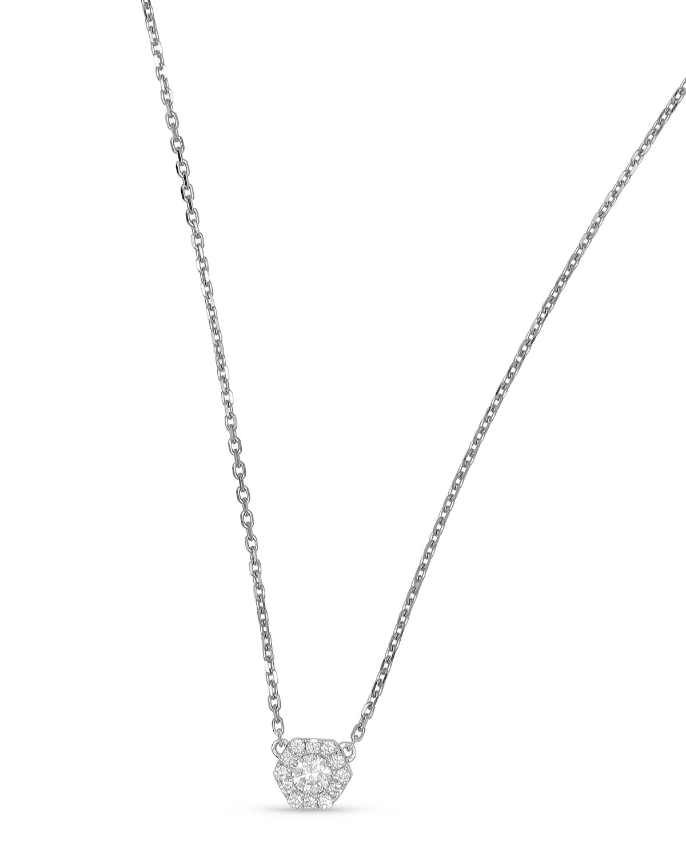 FREDERIC SAGE 18K FIRENZE II HEXAGON DIAMOND PENDANT NECKLACE