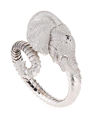 18k Diamond Pavé Elephant Bangle