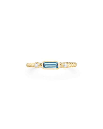 Novella 18k Baguette Topaz Stack Ring, Size 5