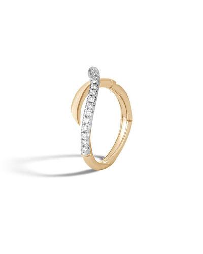 John Hardy 18k Legends Naga Diamond Ring, Size 6