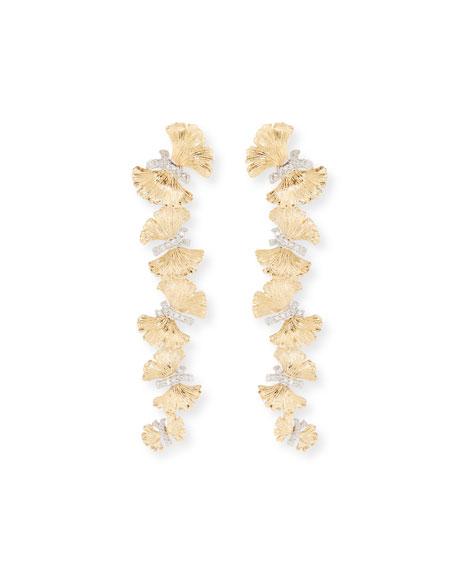 Michael Aram 18k Butterfly Ginkgo Diamond Earrings