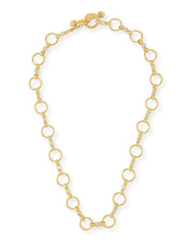 19k Diamond Celtic Link Necklace