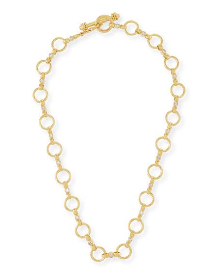 Elizabeth Locke 19k Diamond Celtic Link Necklace