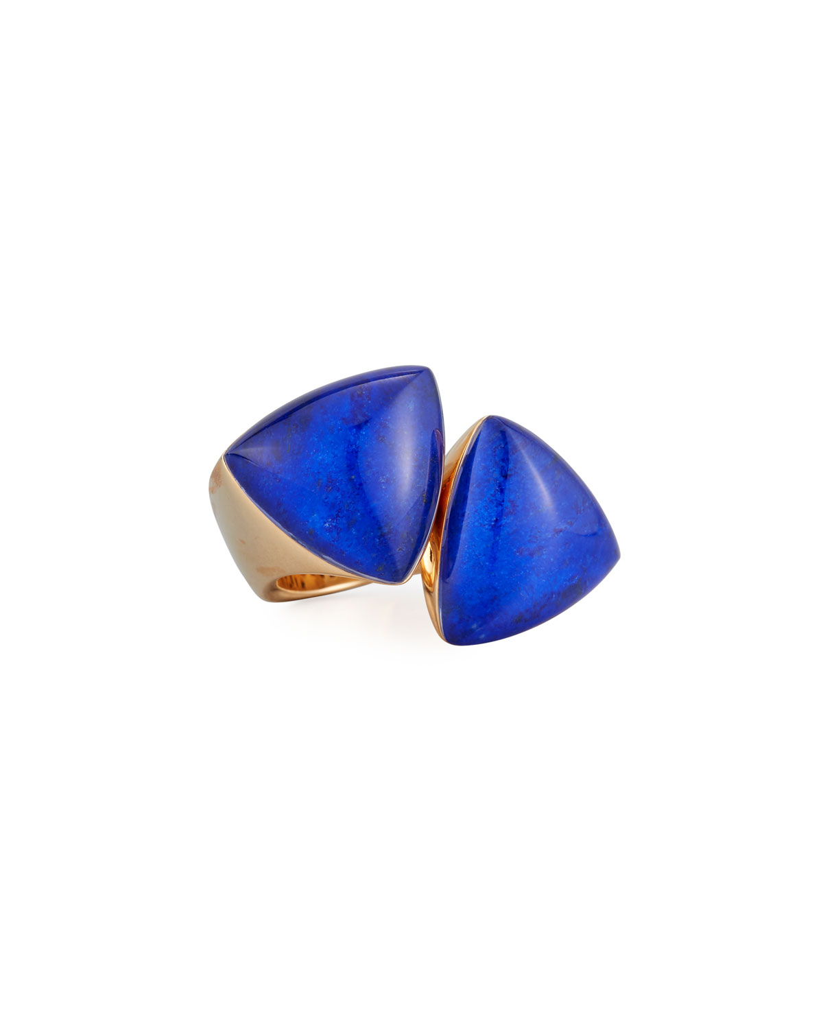 VHERNIER FRECCIA 18K ROSE GOLD & LAPIS RING
