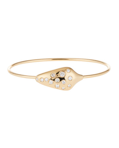 Diamond Serpent Head Bracelet in 18k Yellow Gold