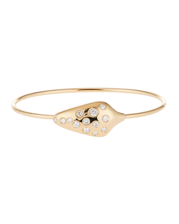 ANDREOLI DIAMOND SERPENT HEAD BRACELET IN 18K YELLOW GOLD