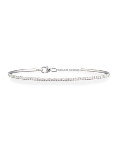 Slav White Diamond Bracelet, 18k White Gold