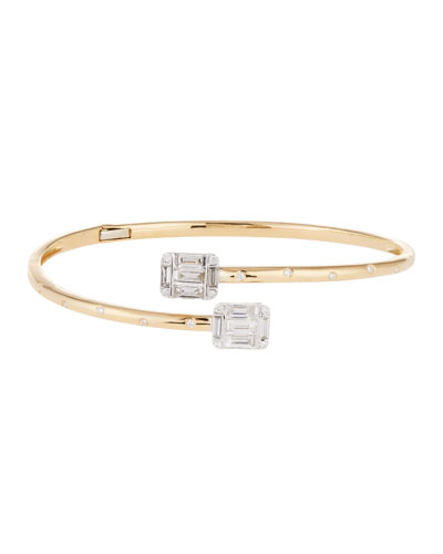 Diamond Bypass Bracelet in 18k Yellow Gold