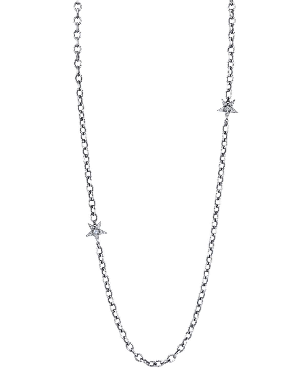 "DIAMOND MULTI-STAR NECKLACE, 48"""