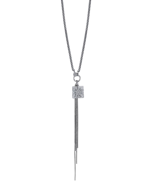 DIAMOND STARBURST FRINGE NECKLACE