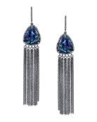 Azurite Fringe Drop Earrings
