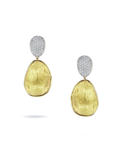 Lunaria Two-Drop Diamond Earrings