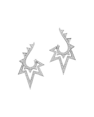 Lady Stardust 18K White Gold & Diamond Earrings