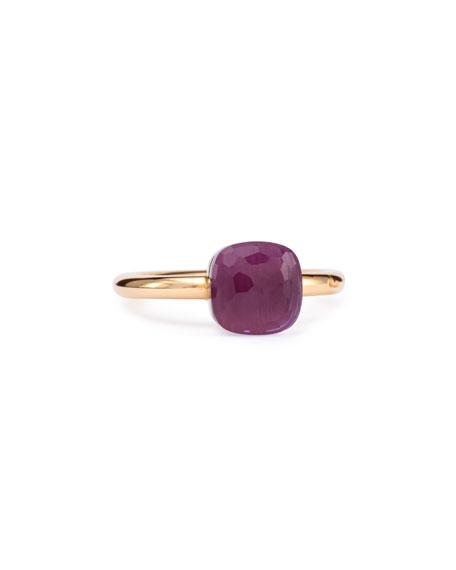 Pomellato Nudo Rose Gold & Amethyst Mini Ring, Size 53