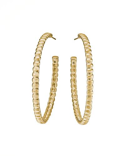 Bedeg 18k Gold Medium Hoop Earrings