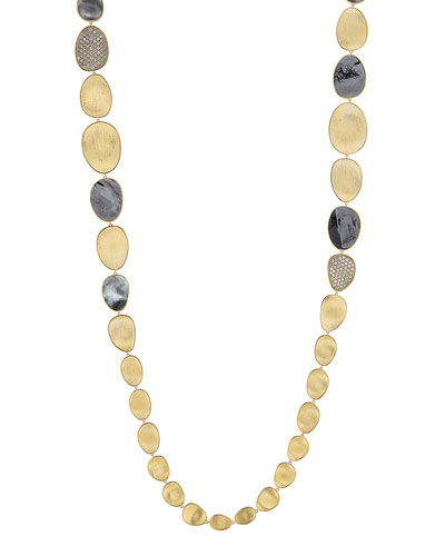 18k Lunaria Mixed Station Necklace