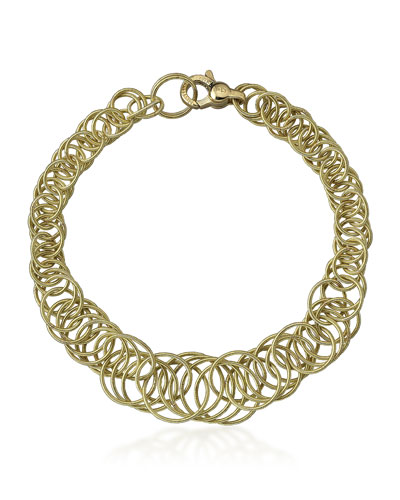 Hawaii 18k Gold Interlocking Circle Link Bracelet