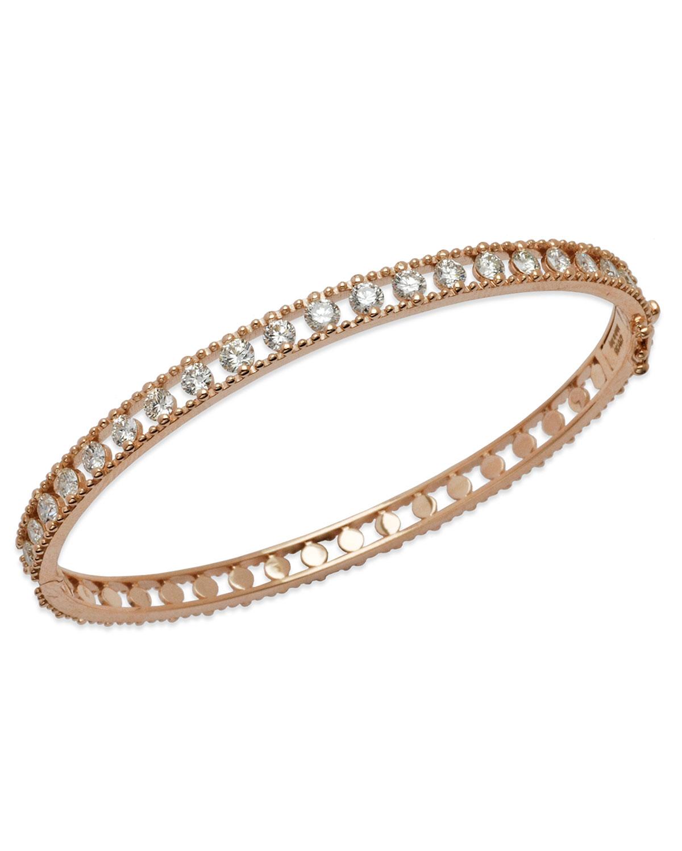 STAURINO FRATELLI Allegra 18K Rose Gold Diamond Bangle Bracelet