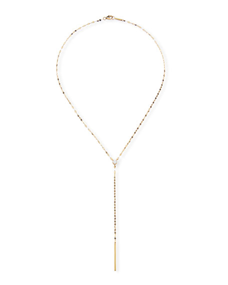 Lana 14k Solo Chime Lariat Necklace w/ Diamond