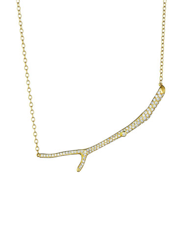 Wonderland 18k Diamond Twig Necklace