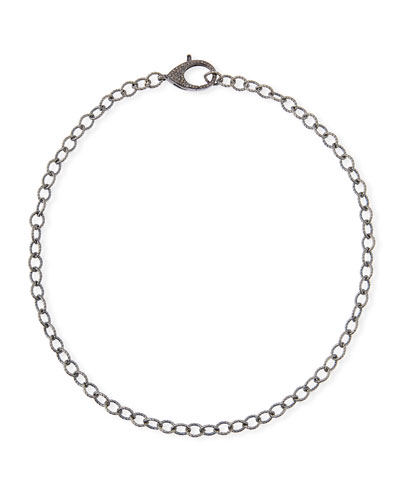 Diamond Lock Chain Necklace