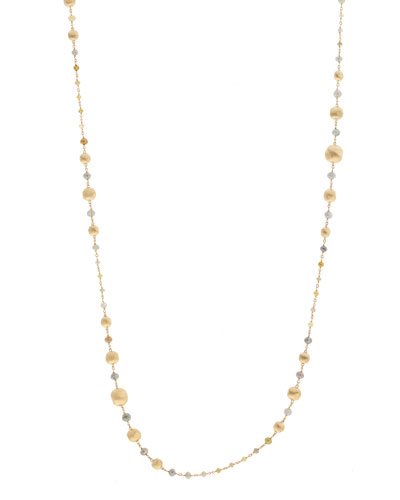 Unico Africa Beaded Necklace with Rough Diamonds, 36