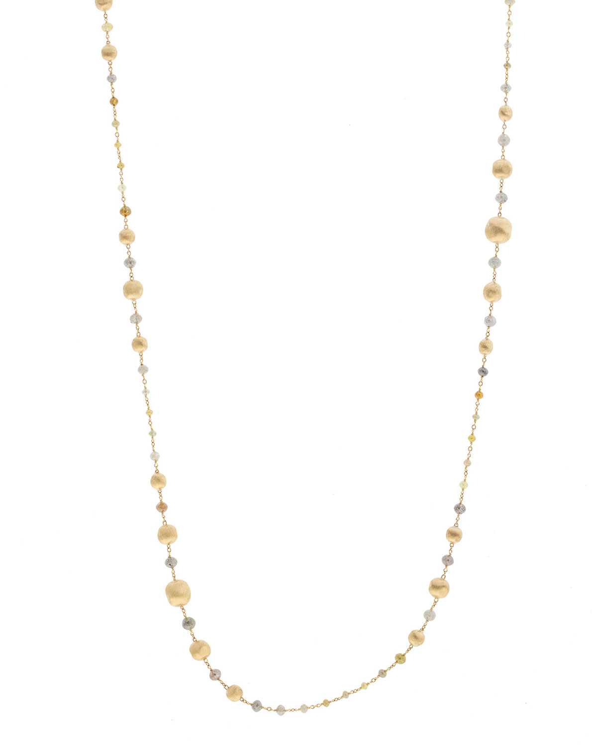 """Unico Africa Beaded Necklace With Rough Diamonds, 36"""" (29.64Ct)"""