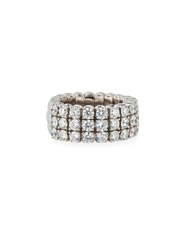 PICCHIOTTI 18K EXPANDABLE ROUND DIAMOND RING, 3.01TCW