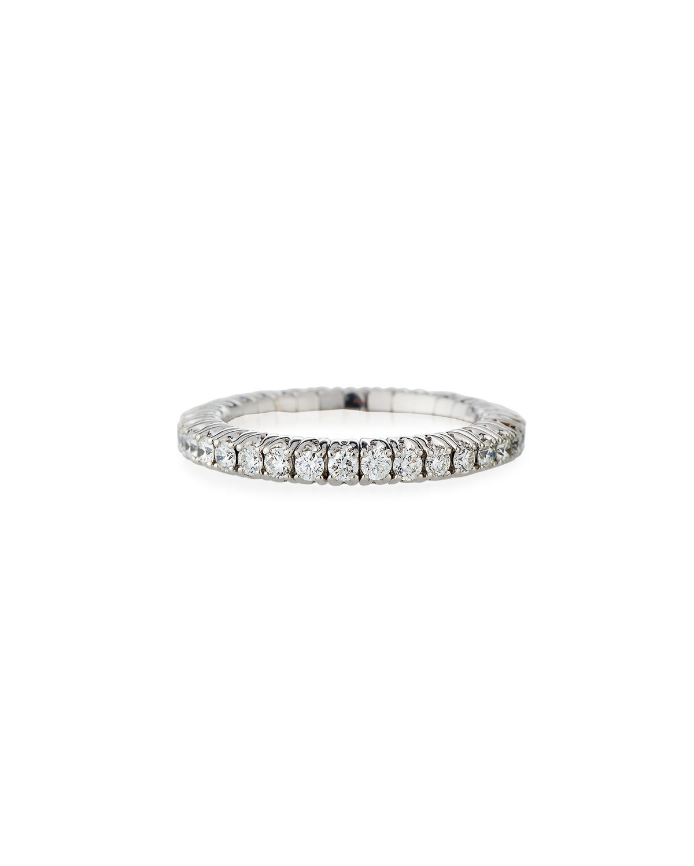 PICCHIOTTI 18K EXPANDABLE ROUND DIAMOND RING, 1.05TCW