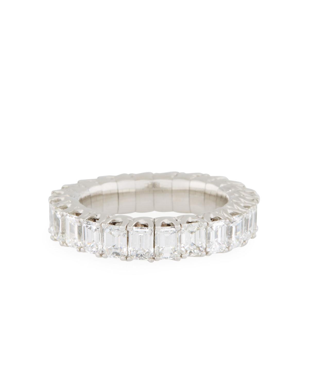 PICCHIOTTI 18K EXPANDABLE EMERALD-CUT DIAMOND RING, 4.0TCW