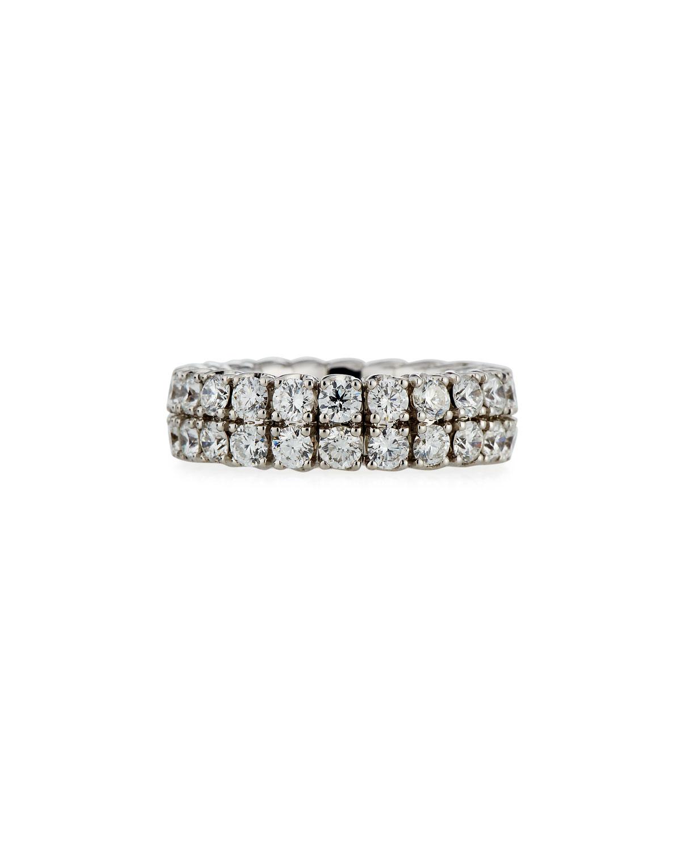 PICCHIOTTI 18K EXPANDABLE ROUND DIAMOND RING, 4.59TCW