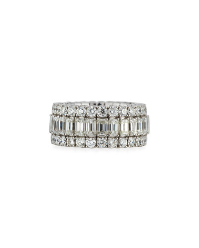 18k Expandable Mixed-Cut Diamond Ring, 8.64 tcw