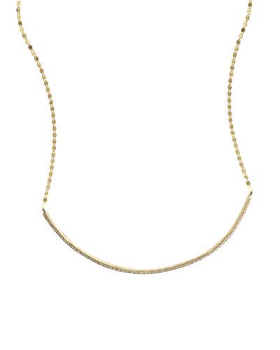 Flawless 14k Diamond Bar Choker Necklace