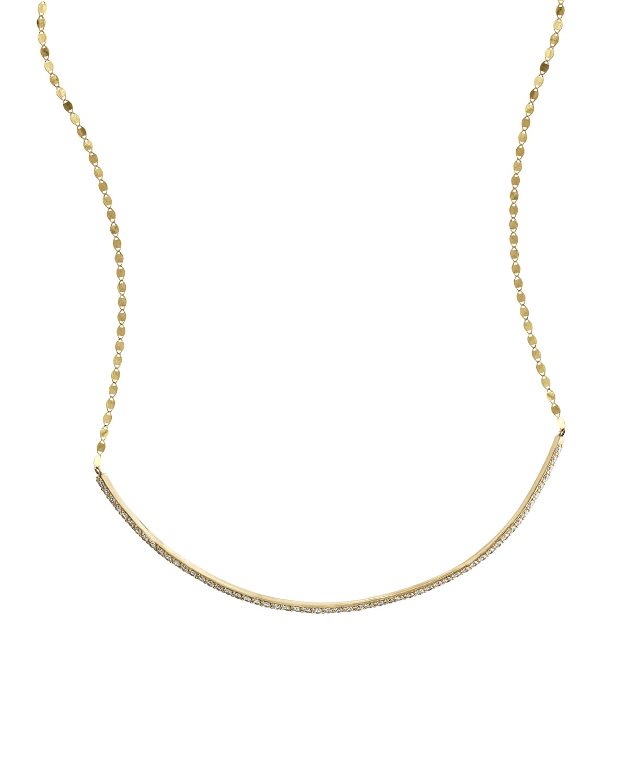 Lana Jewelry Flawless 14k Diamond Bar Choker Necklace KFzEw8niS