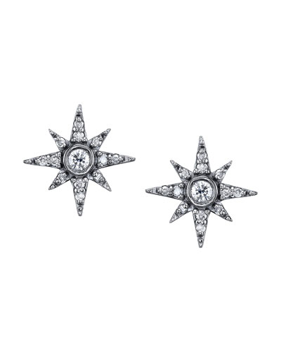Pave Diamond North Star Mini Stud Earrings