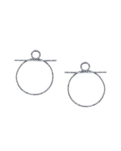Diamond Bar Hoop Earrings