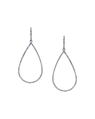 Open Pave Diamond Teardrop Earrings