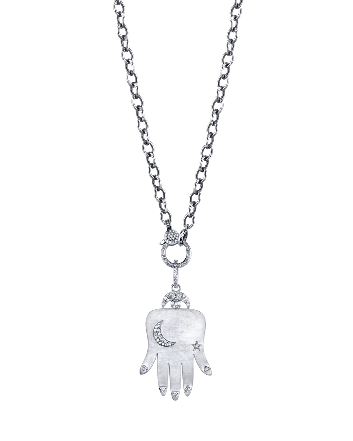 DIAMOND HAND OF FORTUNE NECKLACE