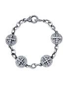 Diamond Dome Cross Eternity Bracelet