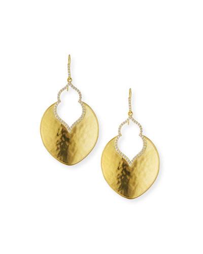 Kalika Lantern Earrings with Diamonds in 18K Gold