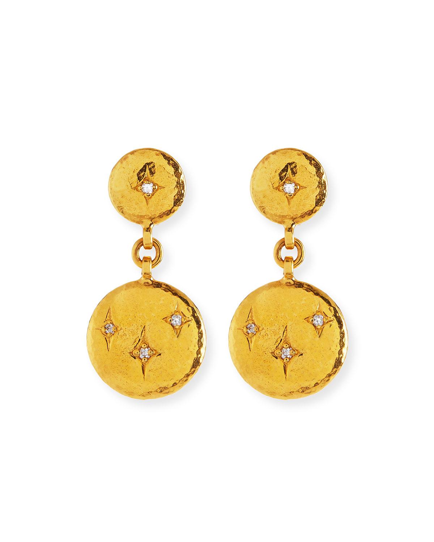 22k Starlight Diamond Drop Earrings