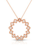 18k Roman Barocco Diamond Starburst Pendant Necklace