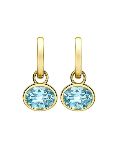 a9f85255bafea5 Blue Topaz Gold Drop Earrings | Neiman Marcus