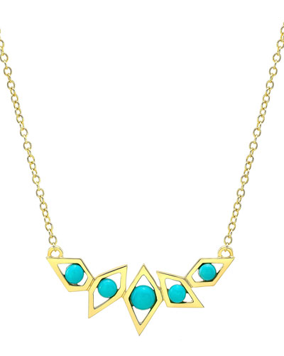Birds of Paradise Turquoise Necklace