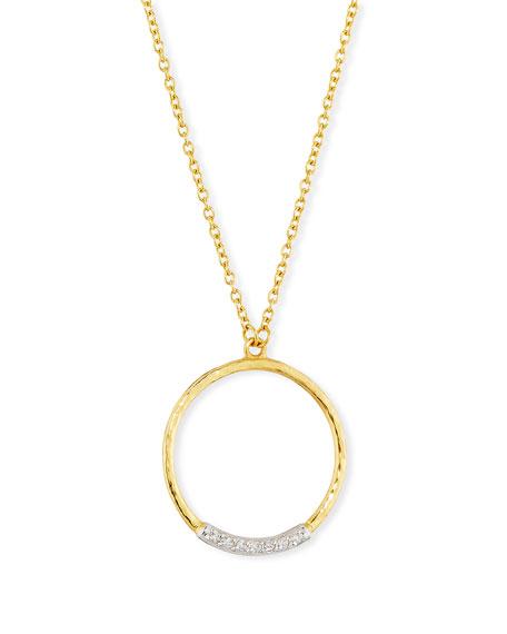 Gurhan Delicate Geo Diamond Pave Pendant Necklace
