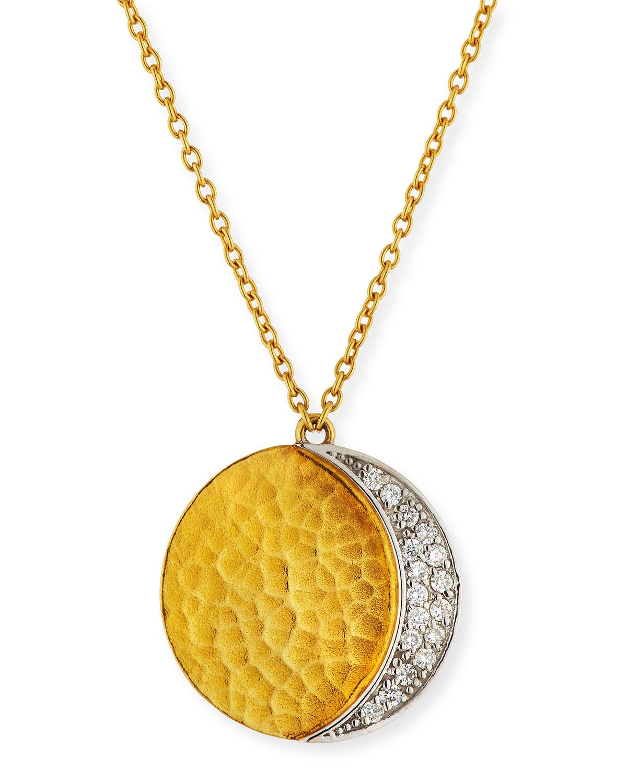 GURHAN Pointelle 18K & 24K Yellow Gold & Diamond Pendant Necklace