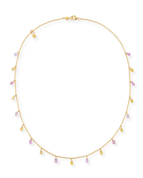 Gurhan Limited Edition Delicate Dew Necklace with Fancy Sapphire Briolettes