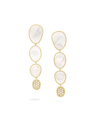 18k Mother-of-Pearl & Diamond Drop Earrings